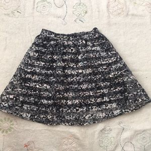 Floral and stripped skirt w/ pockets